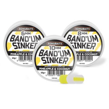 Sonubaits Band'Um Sinkers Pineapple & Coconut wit - geel witvis mini-boilie 10mm