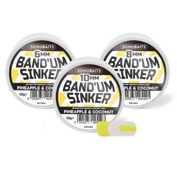 Sonubaits Band'Um Sinkers Pineapple & Coconut wit - geel witvis mini-boilie 8mm