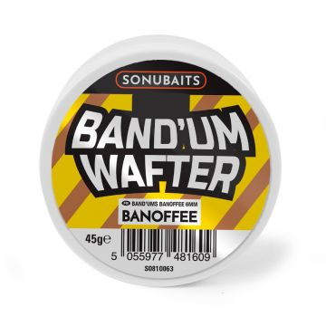 Sonubaits Band'Um Wafter Banoffee bruin - geel witvis mini-boilie 6mm