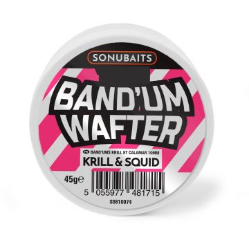 Sonubaits Band'Um Wafter Krill & Squid roze - wit witvis mini-boilie 6mm