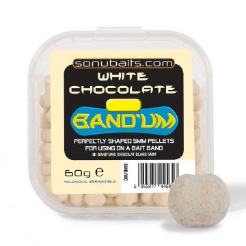 Sonubaits Band'Ums White Chocolate wit witvis mini-boilie 7mm