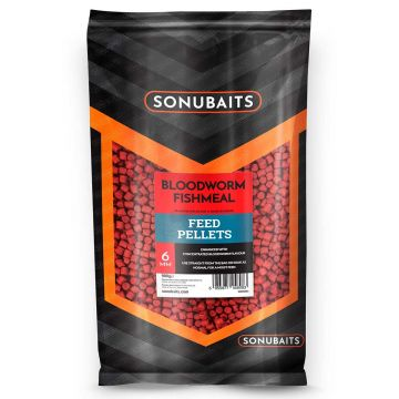 Sonubaits Bloodworm Fishmeal Feed Pellets rood vispellets 6mm 900g