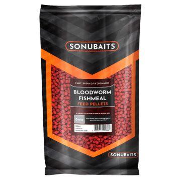 Sonubaits Bloodworm Fishmeal Feed Pellets rood vispellets 8mm 900g