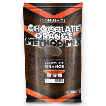 Sonubaits Chocolate Orange Method Mix 2kg zwart - oranje witvis visvoer
