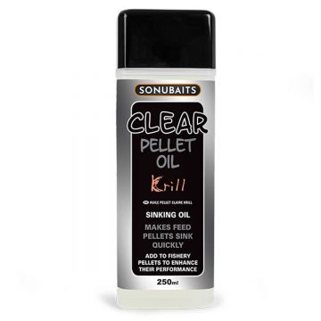Sonubaits Clear Pellet Oil Krill clear aas liquid 250ml