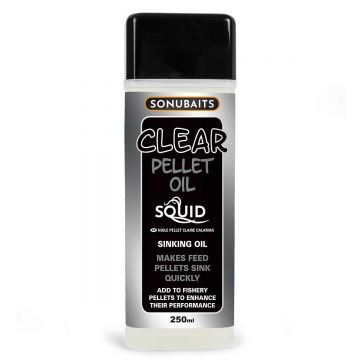 Sonubaits Clear Pellet Oil Squid clear aas liquid 250ml