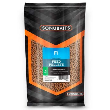 Sonubaits F1 Feed Pellets bruin vispellets 4mm 900g