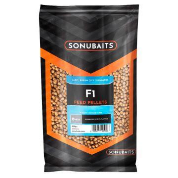 Sonubaits F1 Feed Pellets bruin vispellets 8mm 900g