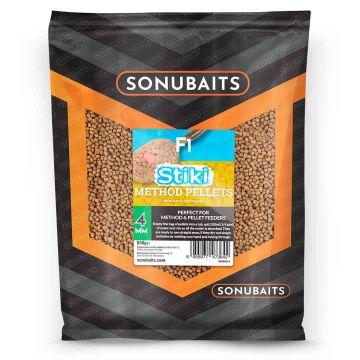 Sonubaits F1 Stiki Method Pellets bruin vispellets 4mm 650g
