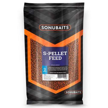 Sonubaits Feed S-Pellets bruin - zwart vispellets 2mm 1kg