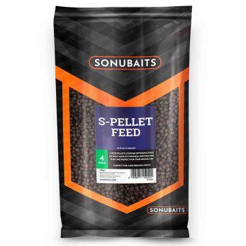 Sonubaits Feed S-Pellets bruin - zwart vispellets 4mm 1kg