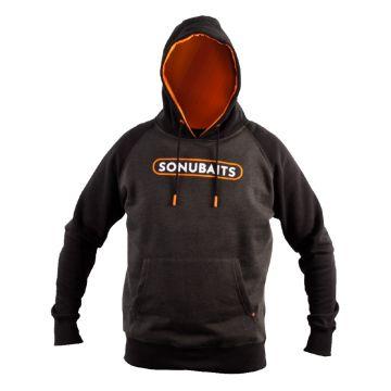 Sonubaits Hoodie zwart - grijs - oranje vistrui Large