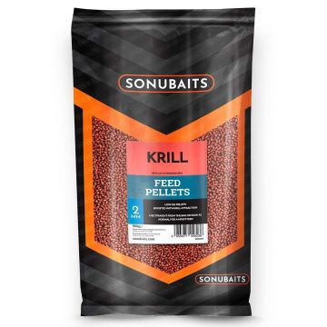 Sonubaits Krill Feed Pellets rood vispellets 2mm 900g