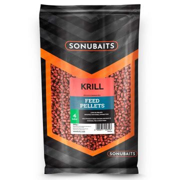 Sonubaits Krill Feed Pellets rood vispellets 4mm 900g