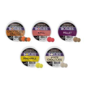 Sonubaits Mixed Method Boilies Pellet bruin witvis mini-boilie 8-10mm