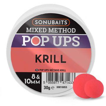 Sonubaits Mixed Method Pop-Ups Krill rood - roze witvis mini-boilie 8-10mm