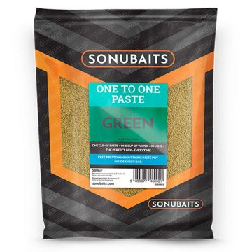 Sonubaits One To One Paste Green 500g groen witvis visvoer