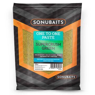 Sonubaits One To One Paste Supercrush Green 500g groen witvis visvoer