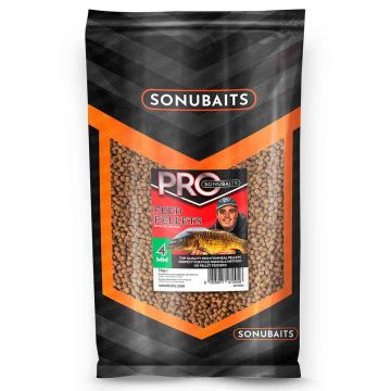 Sonubaits Pro Feed Pellets bruin vispellets 4mm 1kg