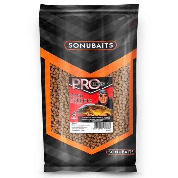 Sonubaits Pro Feed Pellets bruin vispellets 6mm 1kg