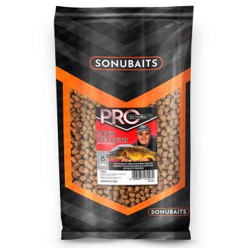 Sonubaits Pro Feed Pellets bruin vispellets 8mm 1kg