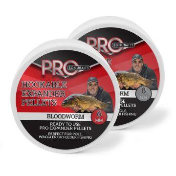 Sonubaits Pro Hookable Expander Pellets Bloodworm rood vispellets 6mm 100g