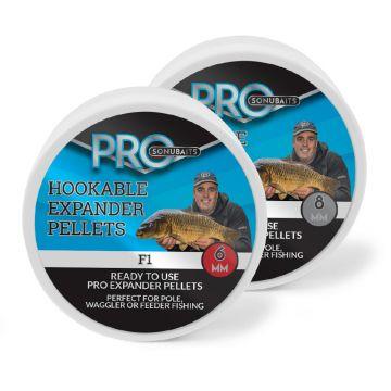 Sonubaits Pro Hookable Expander Pellets F1 bruin vispellets 6mm 100g