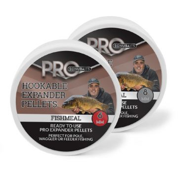 Sonubaits Pro Hookable Expander Pellets Fishmeal bruin vispellets 6mm 100g
