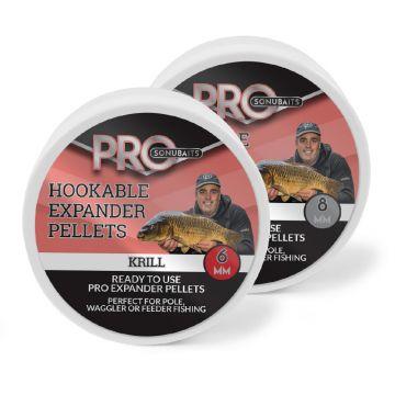 Sonubaits Pro Hookable Expander Pellets Krill rood - bruin vispellets 8mm 100g