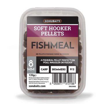 Sonubaits Soft Hooker Pellets Fishmeal bruin vispellets 8mm 135g