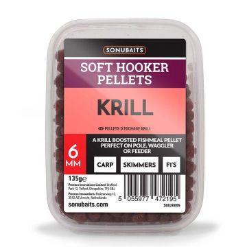 Sonubaits Soft Hooker Pellets Krill rood vispellets 6mm 135g