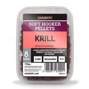 Sonubaits Soft Hooker Pellets Krill rood vispellets 8mm 135g