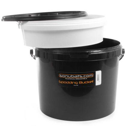 Sonubaits Spodding Bucket zwart visemmer