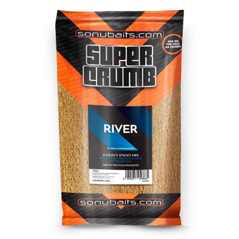 Sonubaits Super Crumb River 1kg bruin witvis visvoer
