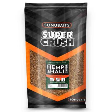 Sonubaits Supercrush Hemp & Hali 2kg bruin - zwart witvis visvoer