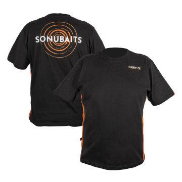 Sonubaits T-Shirt zwart - grijs - oranje vis t-shirt Large