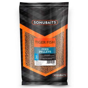 Sonubaits Tiger Fish Feed Pellets bruin vispellets 2mm 900g