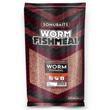 Sonubaits Worm Fishmeal 2kg rood - bruin witvis visvoer