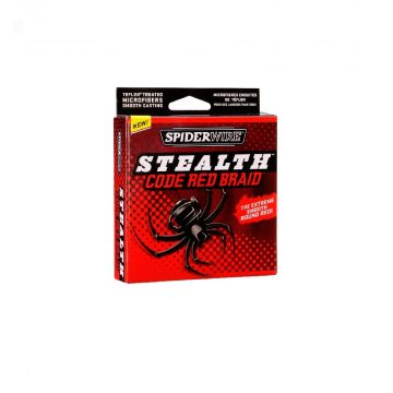 Spiderwire Stealth-Braid rood gevlochten visdraad 0.12mm 270m