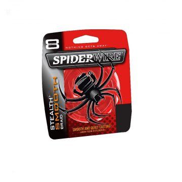 Spiderwire Stealth Smooth rood gevlochten visdraad 0.08mm 150m