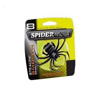 Spiderwire Stealth Smooth geel gevlochten visdraad 0.14mm 300m