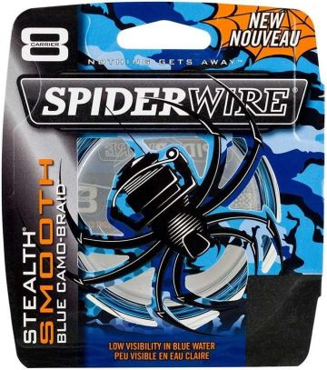Spiderwire Stealth Smooth X8 blue camo gevlochten visdraad 0.19mm 300m