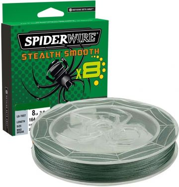 Spiderwire Stealth Smooth X8 green gevlochten visdraad 0.09mm 150m
