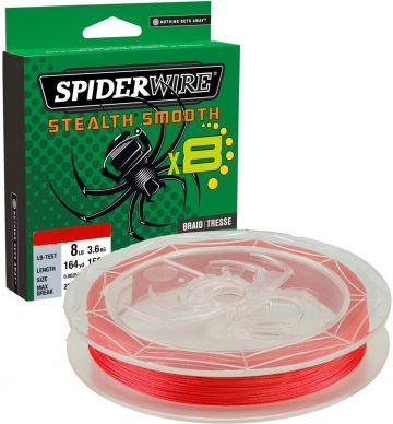 Spiderwire Stealth Smooth X8 red gevlochten visdraad 0.15mm 150m