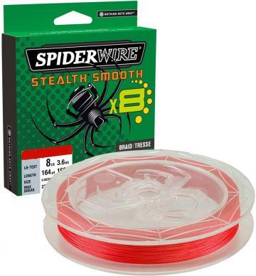 Spiderwire Stealth Smooth X8 red gevlochten visdraad 0.19mm 150m 18kg
