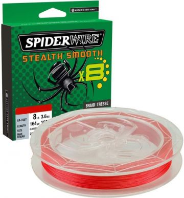 Spiderwire Stealth Smooth X8 red gevlochten visdraad 0.29mm 300m