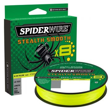 Spiderwire Stealth Smooth X8 yellow gevlochten visdraad 0.09mm 150m