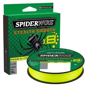 Spiderwire Stealth Smooth X8 yellow gevlochten visdraad 0.15mm 300m