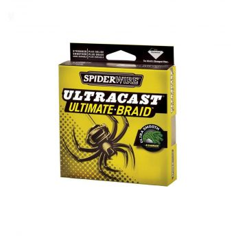 Spiderwire Ultracast Ultimate Braid yellow gevlochten visdraad 0.12mm 270m