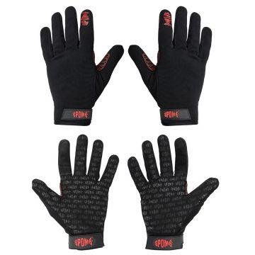 Spomb Pro Casting Gloves zwart - grijs handschoen Medium